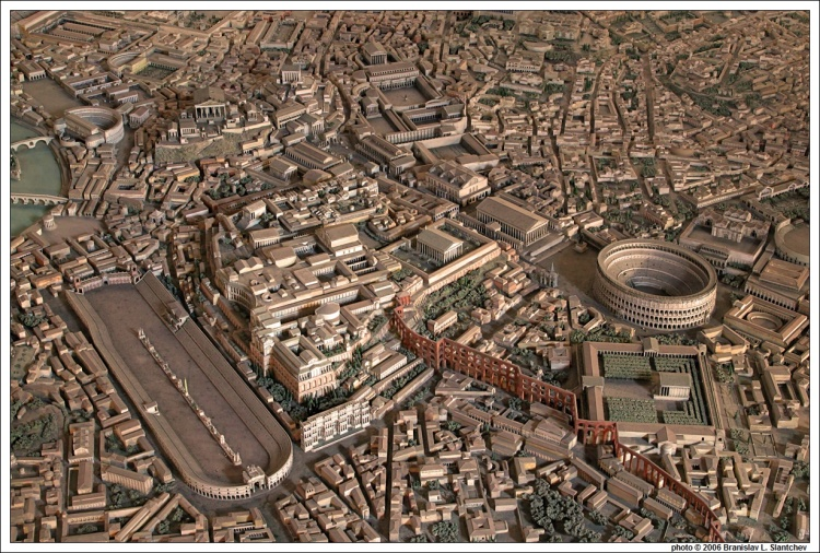 060930-120153 Model of Constantine's Rome Northwest View of Palatine Hill Area