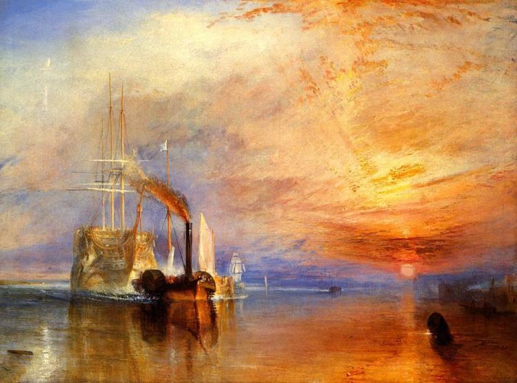 The fighting Temeraire tugged to her last berth to be broken up.JPG